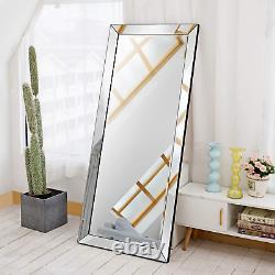 Full Body Length Mirror Wall Leaning Floor Mirror Bedroom Hallway Large 70x30