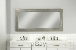 Full Length Bevelled Mirror Large Hammered Leaner Hanging Hardware Wall Silver