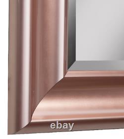 Full Length Floor Mirror Bathroom Vanity Wall Hang Leaner Large Beveled RoseGold
