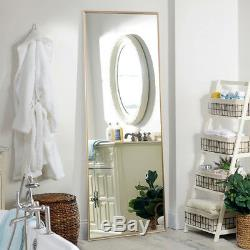 Full Length Floor Mirror Leaning Wall Mounted Frame Large Mirrors Living Bedroom