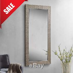 Full Length Floor Mirror Leaning Wall Mounted Mosaic Style Ornate Frame Large