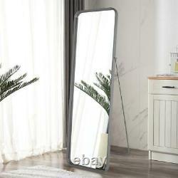 Full Length Floor Mirror Standing Large Wall Hanging Bathroom Bedroom Slim Frame