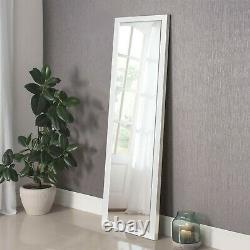 Full Length Floor Mirror Wall Body Standing Hanging Large White Bedroom Dressing