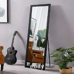Full Length Floor Mirror Wall Hang Leaner Standing Large Beveled Bathroom Vanity