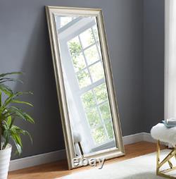 Full Length Floor Mirror Wall Leaner Large Bedroom Bathroom Lounge Champagne New