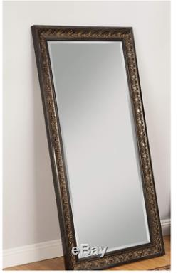 Full Length Mirror Antique Gold Brown Ornate Carved Leaning Wall Floor Large New