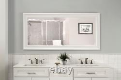 Full Length Mirror Bathroom Vanity Wall Hang Leaner Large Bedroom Lounge White