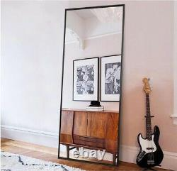 Full Length Mirror Large Floor Mirror Standing or Wall-Mounted 65X22 Black