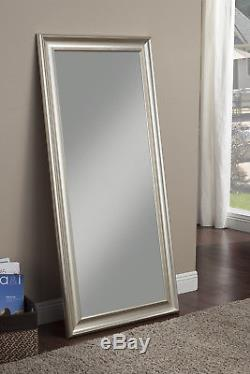 Full Length Mirror Leaning Floor Large Silver Standing Bedroom Wall Mounted