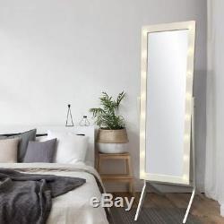 Full Length Mirror Leaning Floor Standing Vanity Cheval Light Bedroom Wall Large
