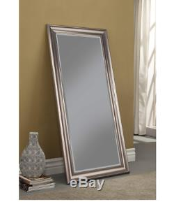 Full Length Mirror Leaning Large Wall Hang Leaner Silver Frame Lounge Bedroom
