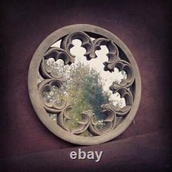 Garden Mirror outdoor Frost Resistant Grey Stone Ornate Wall Mirror