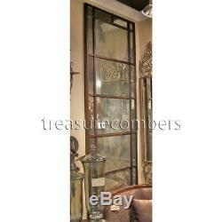 Gold Bronze Xl Metal Wall Floor Mirror Leaner Antiqued Glass Large 79 Horchow