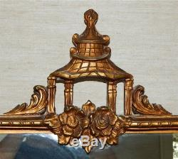 Gorgeous Antique Large Gold Gilded 1920's Wall Mirror Stunning 30 x 22