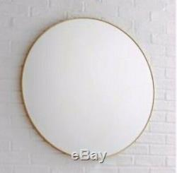 Habitat PATSY Large Round Gold Wall Hanging Mirror D82cm Living room