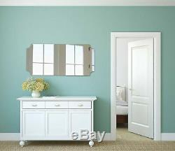 Hamilton Hills Large Beveled Scalloped Edge Full Length Wall Mirror 1 inch