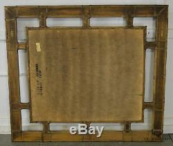 Henredon Mcguire Style Large Bamboo Frame Wall Mirror