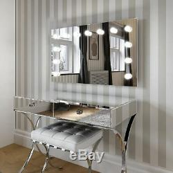 Hollywood Mirror Large Illuminated Wall Mounted Mirror Landscape 60 x 100