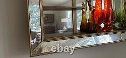 Illinois Molding Co Large Mid Century Modern Shadow Box Mirror Wall Shelf