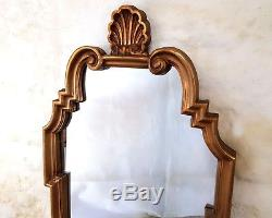 Italian Rococo Style Large Gilt Frame Wall Mirror 38' x 2 (Antique)