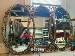 LARGE Ornate Victorian Gold Gilded Wall Mirror 5.5 ft x 3.6 ft