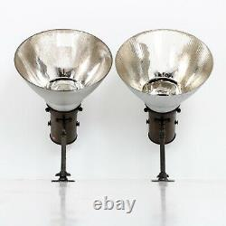 LARGE RUN OF 28 VINTAGE ANTIQUE SALVAGED GECoRAY MIRRORED WALL LIGHTS BY G. E. C