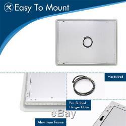 LED Wall Backlit Mirror Bathroom Vanity Makeup Mirror Fogless Brightness Adjust