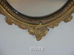 Large 17 Ornate Oval Victorian Rococo Gold Gilt Wall Mirror Grand Tour Style