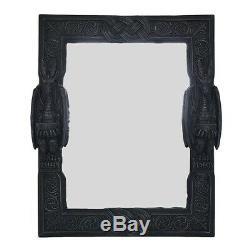 Large 23 Tall Dual Saurian Servant Gothic Dragon Wall Mirror Plaque Home Decor