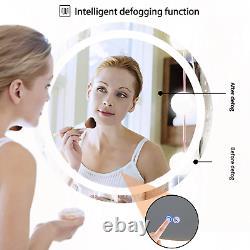 Large 24 32 Bathroom Mirror Led Light Antifog Makeup Shaving Wall Vanity Mirror