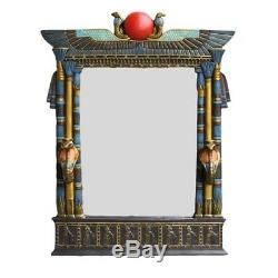 Large 25 Tall Egyptian Architecture Dual Cobra Wall Mirror Plaque Home Decor