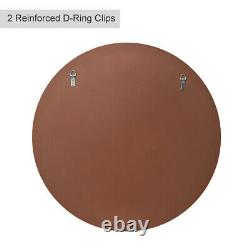 Large 30'' Decor Mirror for Wall, Antique Bronze Round Mirror with Beveled Edge