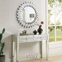 Large 32'' Wall Mirror Decorative Modern Round Mirror Sunburst for Bedroom