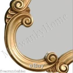 Large 35 ANTIQUE GOLD Shaped Vanity Mirror NEIMAN MARCUS Wall Victorian