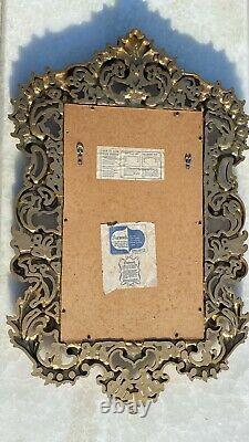 Large 35 Vintage Burwood Products Gold Gilt Ornate Hollywood Regency Wall Mirror