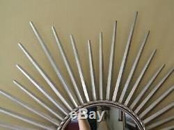 Large 40 inch Star/Sunburst Style Round Metal Framed Wall Hanging Mirror