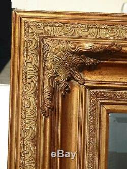 Large 55Tall Vintage French Provincial Gold Ornate Wall Mantle Mirror