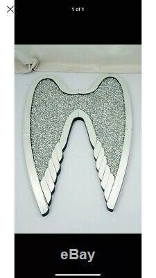 Large 60X90CM Wall Hung Gatsby Crushed Diamond Wings, Bling Gift
