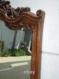 Large 72High Oversized French Country Brown Ornate Wall Mantle Mirror