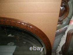 Large 79 French bevelled glass wall mirror
