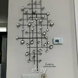 Large Abstract Wall Art Decor Mirrored Dots Metal Trellis Modern Home Sculpture