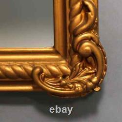 Large Antique French Giltwood Scroll and Foliate Wall Mirror, circa 1890
