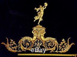 Large Antique Louis XVI Gilt Dore Plastic Ornate Wall Mirror Moulding Decoration