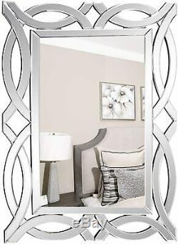 Large Antique Wall Mirror Ornate Glass Framed Venetian Decor Mirror 28 X 39