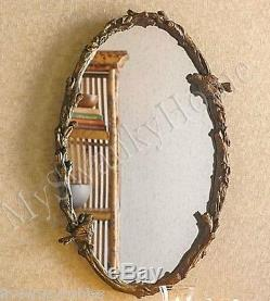 Large BIRD BRANCH PLAZA OVAL 34 Wall Mirror Vanity Mantle Horchow Tree Arch