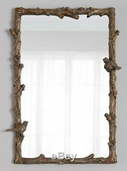 Large BIRD Tree BRANCH Wall Mirror 25x35Vanity Mantle Horchow