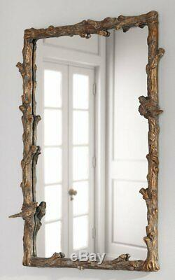 Large BIRD Tree BRANCH Wall Mirror 25x35Vanity, Mantle by Horchow