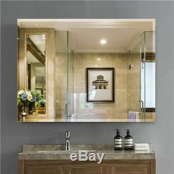 Large Backlit LED Illuminated Modern Bathroom Makeup Light Wall Mount Mirror