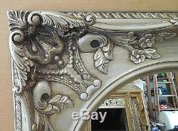 Large Carved Wood/Resin 31x35 Rectangle/Oval Framed Wall Mirror