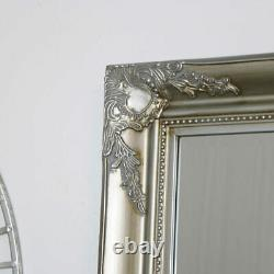 Large Champagne Ornate Wall/Floor Mirror vintage french chic gold silver decor